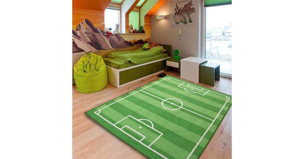 Tappeti Per Bambini Campo Da Calcio : Tappeto per bambini con disegno campo di calcio regali per tutti