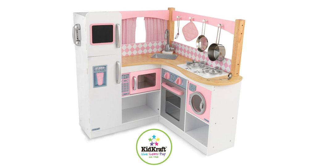 Cucina Per Bambini In Legno : Grande bambino rosa rosso legno gioco cucina dei imitazione set