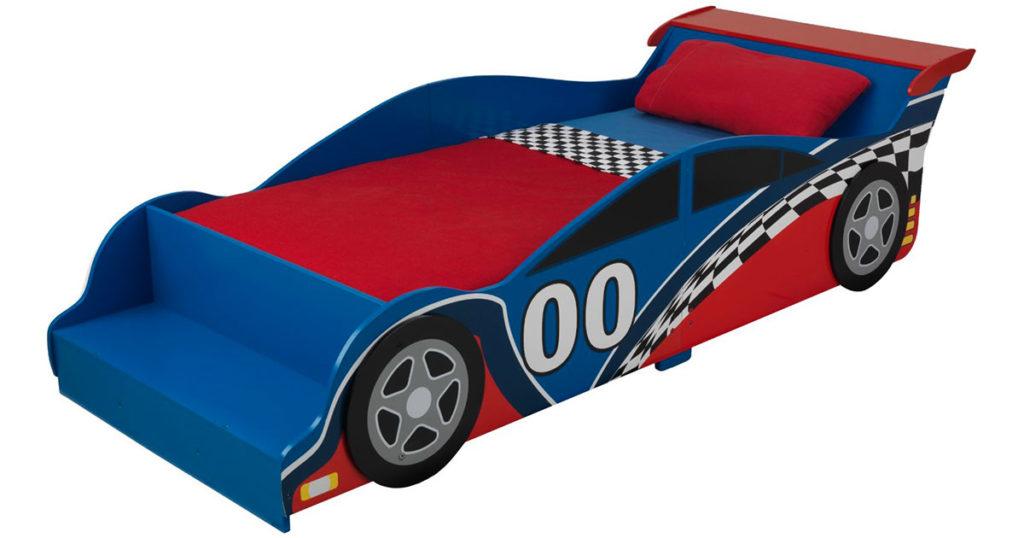 Letto A Forma Di Auto Da Corsa : Letto per bambini a forma di macchina da corsa kidkraft regali