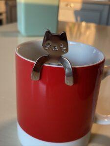 Cucchiaino con manico a forma di gattino