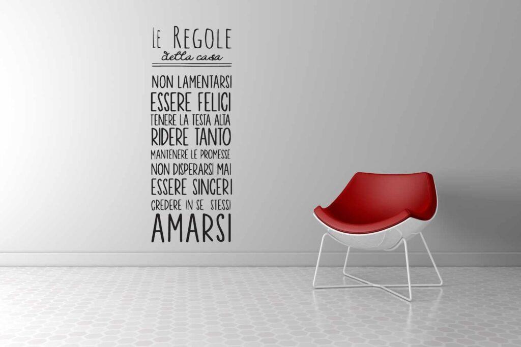 adesivi murali frasi