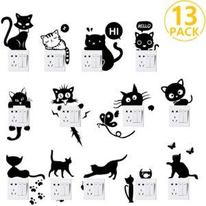 Adesivi gatto per interruttori
